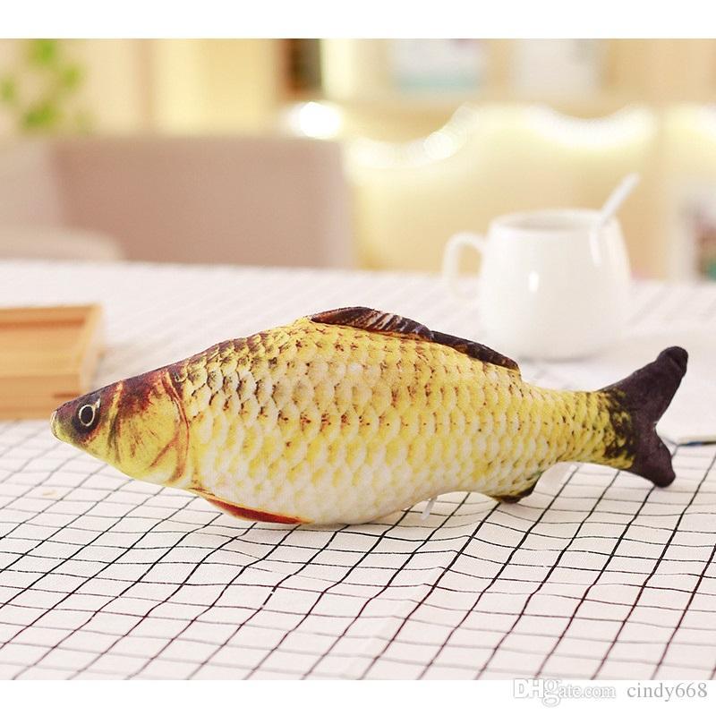 Katzen Liebe Karausche Fisch-Form-Design Katzen-Hundekissen Dekokissen 20cm Home Decor Kissen Kleine Cartoon Sofa Spielzeug kein Reißverschluss