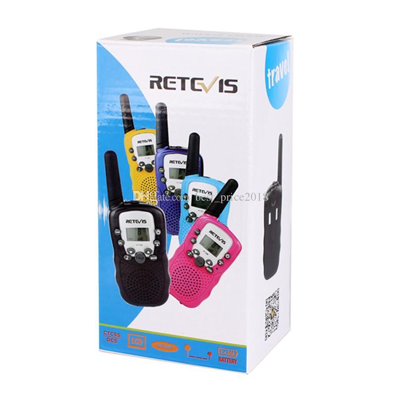 2018 Hot A Pair Retevis RT-388 Mini Walkie Talkie Radio per bambini 0.5W 8 / 22CH Display LCD Radio bidirezionale per bambini Ricetrasmettitore per bambini