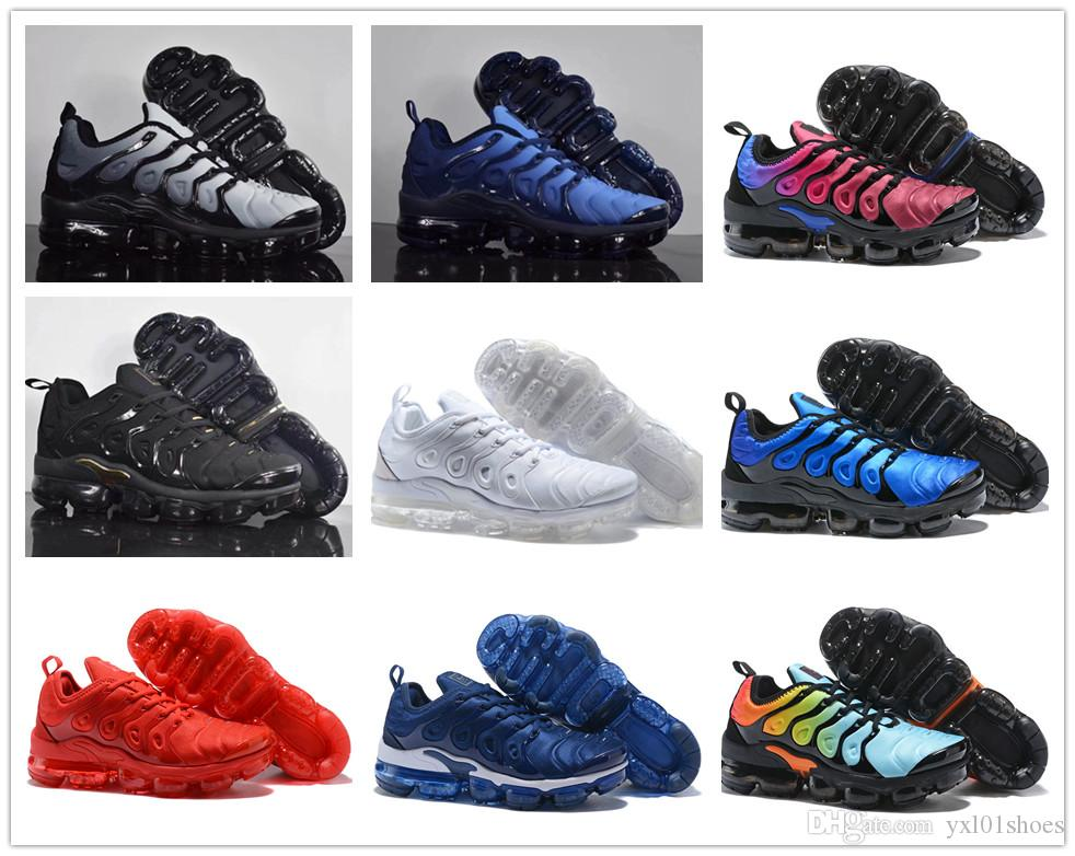 50% price latest fashion best supplier 2018 Hot Sale VaporMax TN Plus Ultra Boost Casual Shoes For High Quality  Black White Red Grey Yellow Men Women Training Sneakers Size 36 45 Yellow  ...
