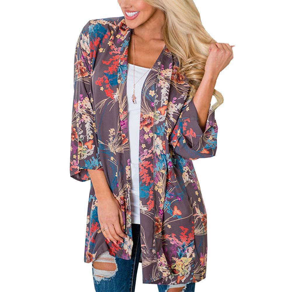 OXUAN Women Sweater 2018 Long Sleeve Casual Cardigans Kimono Shirt shawl womens thin coat cardigan