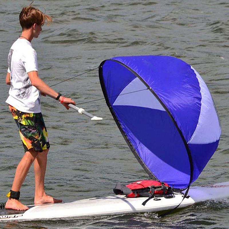 108 * 108cm dobrável Kayak vento Veleiro Vento Sail Paddle Board Sailing Canoe barcos de enfileiramento limpar a janela