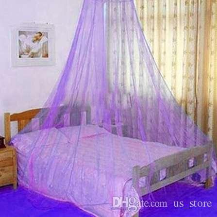 Elegantes Spitze-Insekten-Bett-Überdachungs-Filetarbeits-Vorhang-runde Hauben-Moskito
