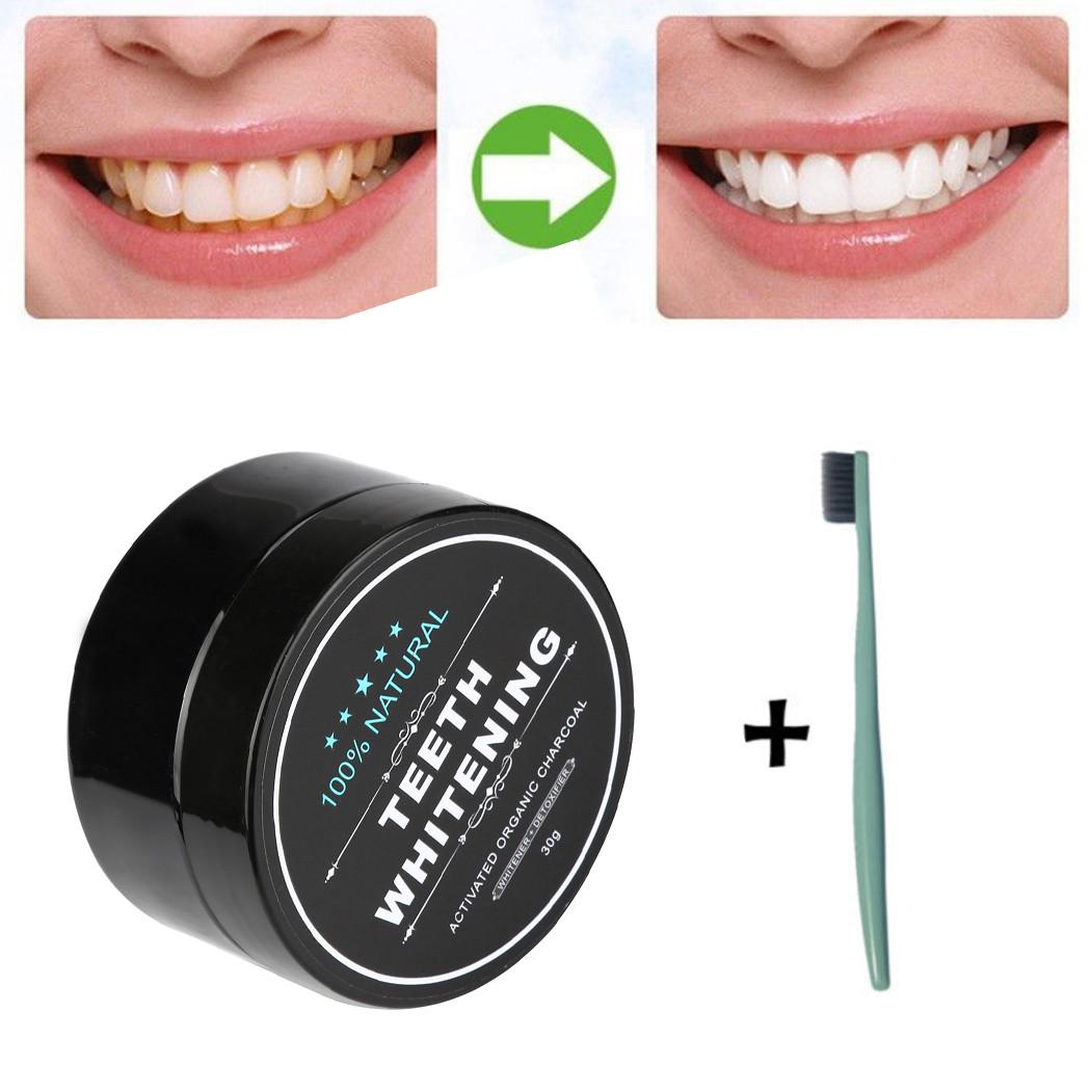 Maange Teeth Whitening Teeth Whitening Powder Natural Organic Activated Charcoal Bamboo Toothpaste Teeth Health Oral Hygiene