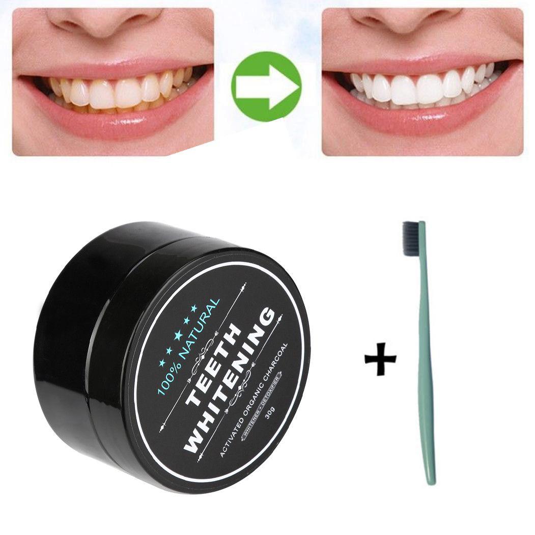 Maange تبييض الأسنان تبييض الأسنان مسحوق الطبيعية العضوية الفحم المنشط الخيزران معجون الأسنان الصحة صحة الفم