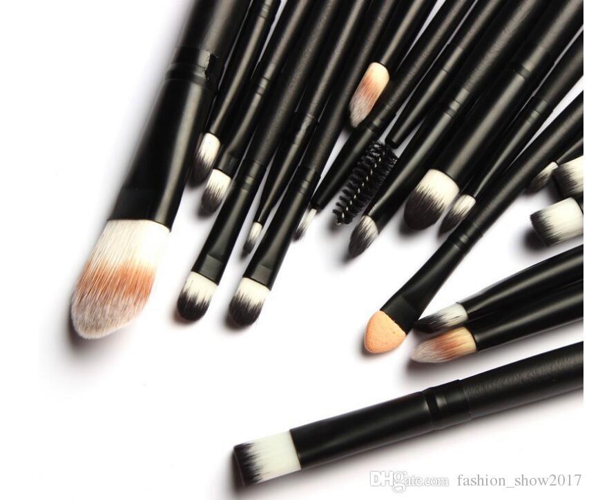 Cepillo profesional del maquillaje 20PCS / Set de maquillaje Kit de Herramientas Brocha Fundación cosméticos en polvo Herramienta de belleza
