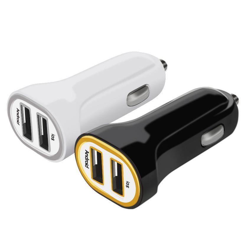 i tec Dual USB Car Charger 2.1 A black