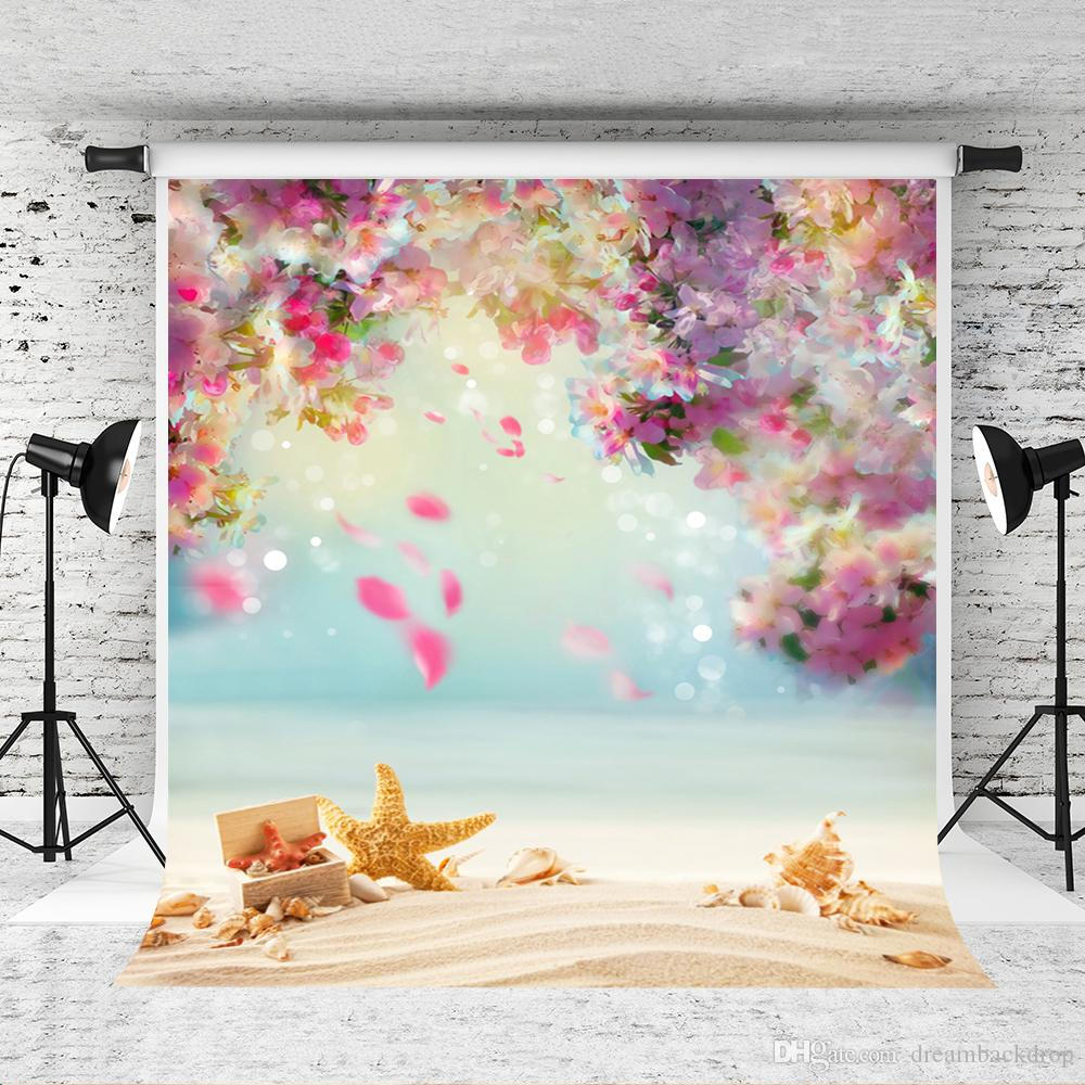 Dream 5x7ft Fantasy Flowers Backdrop Pink Floral Bokeh for Children Newborn Portrait Photo Booth Backgrounds Summer Beach Shoot Studio Prop