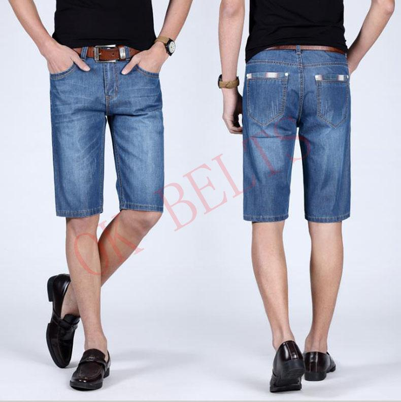 Arrival Male Color Length New Knee New Summer Short Jeans 2018 Cotton Holes Denim Shorts Casual Men Solid Jeans Shorts JYT-2000 Iwkju