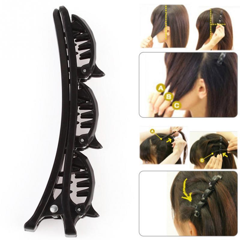 Moon Crystal Rhinestone Beads Dangle Hairpin Hair Clip Women Bridal Jewelry ECU