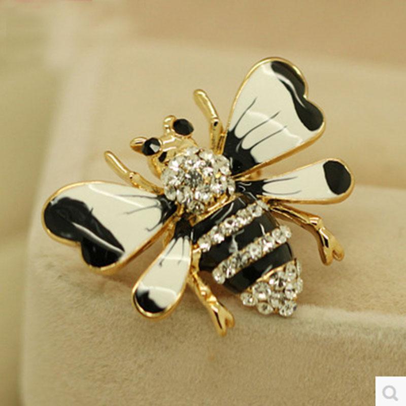 المينا Strass Animal Beetle / Bee / Abelha / Abeille / Owl Brooch Pin / Broches / Brosche / New 2018