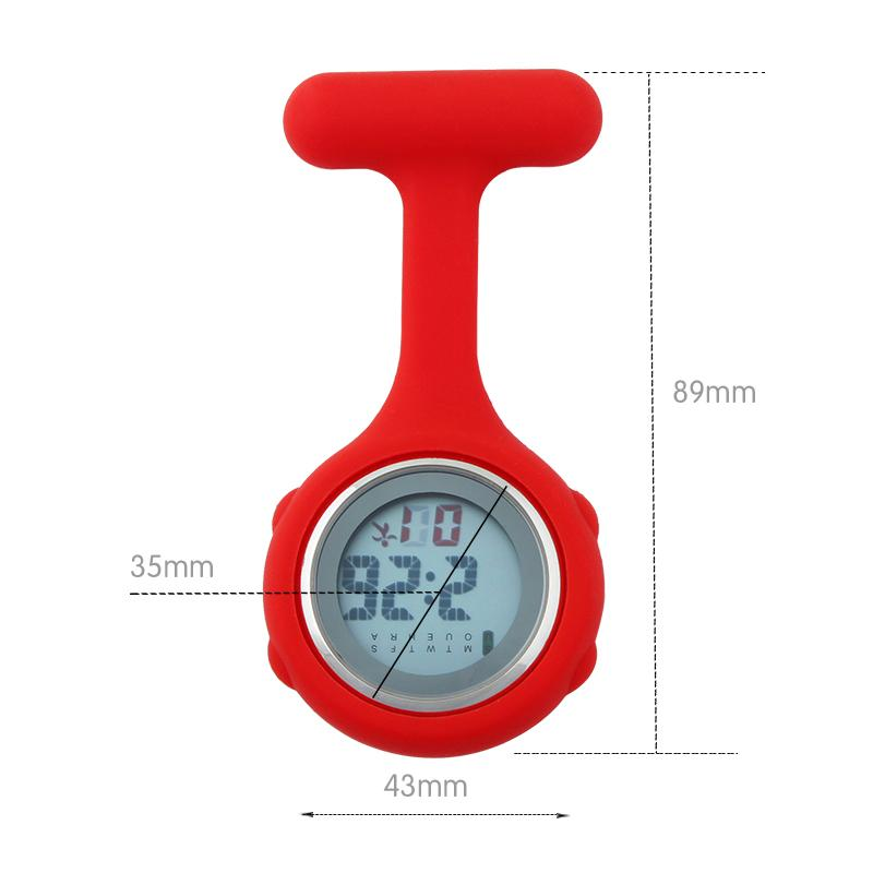 Nurse Watch Digital Silicone New 2018 FOB Pocket Watches doctor brooch lapel Medical hospital Clock Gift for Nursing ALK