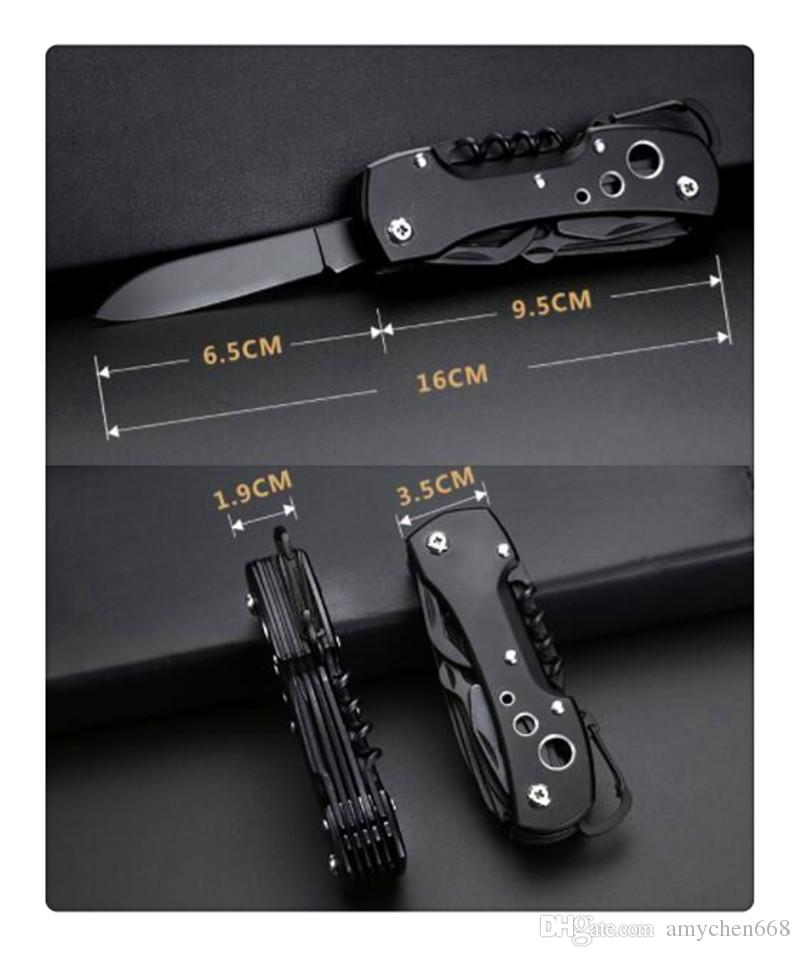 Multi-function Swiss Army Knifel Boar Mini Folding Blade Aluminum Handle Camping Knives Outdoor survival knife Portable pocket knives