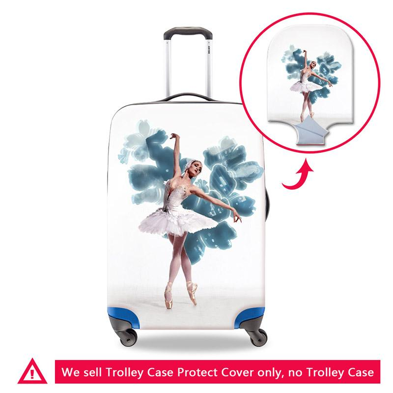 Personalized Thick Luggage Dust Cover for Girls Protective Covers for Luggage Custom Ballet Girl Pattern for Duffle Elastic Travel Bag Cover