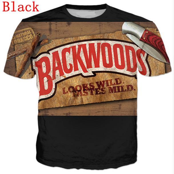 Оптово-новейший стиль печати Летние 3D Backwoods Смешные футболки Мода вскользь DX067 Mens / Womens VWNSG