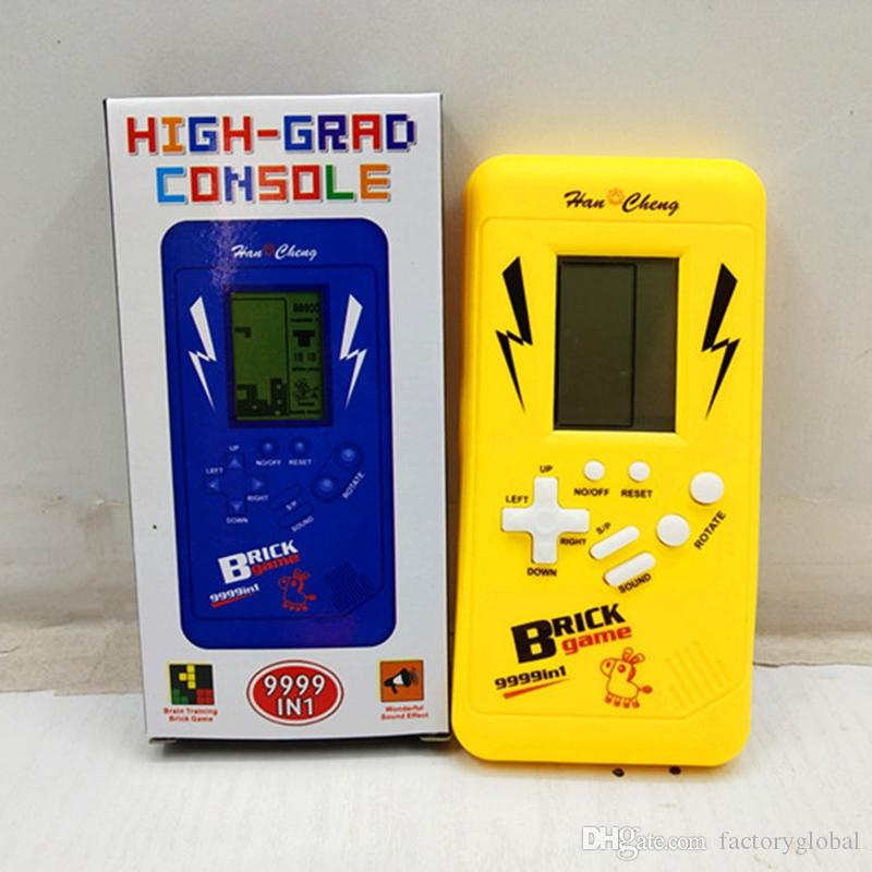 New Classical Tetris Brick Game Console Phone Shape Gaming Players Retro Portable Tetris Handheld Kids Brick Game With Box Package Console Video Game