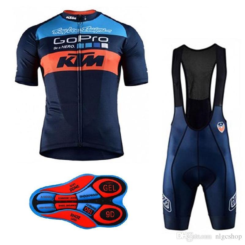 2018 KTM Hommes été Vélo Jersey Respirant Vélo Vêtements Ropa Ciclismo Vélo Shorts À Bretelles Ensemble Vêtements De Sport