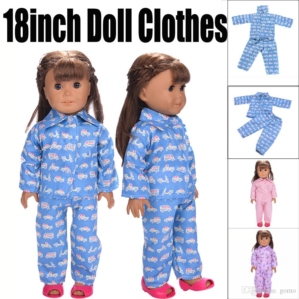 "Pajamas for 18/"" doll"
