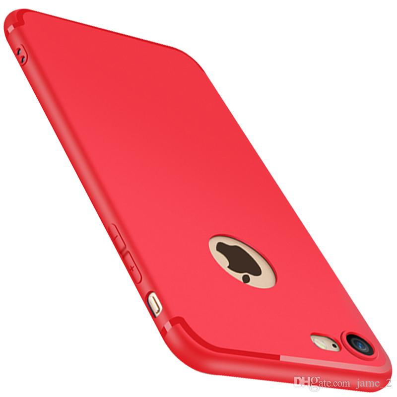 Luxury Soft Back Matte Color Cases for iPhone 7 8 X Case Shockproof TPU Silicone Back Cover Case for iPhone 6 6s Case