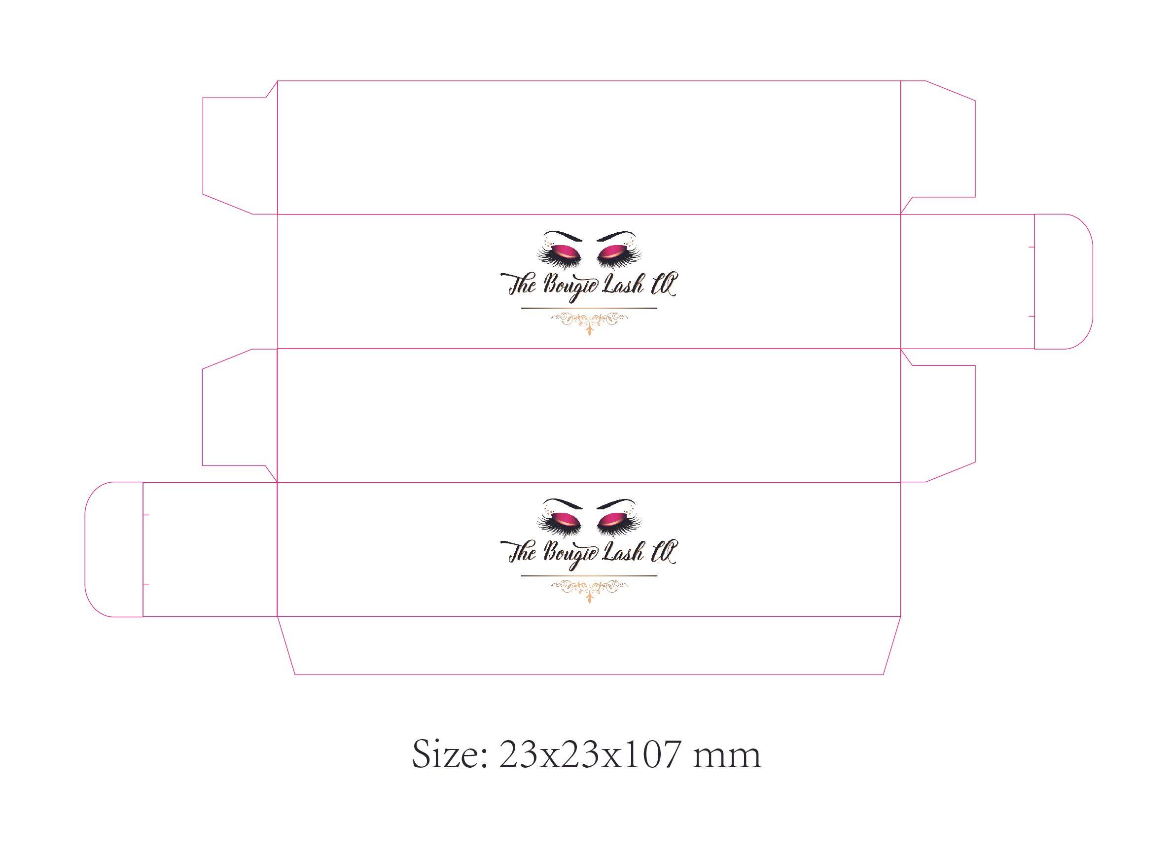 Papierschachteln individuelles Logo für Lippenstift / Kosmetik / Körperpflege gedruckt. Vollfarbig bedruckte Boxboxen mit hochwertigem Laminat