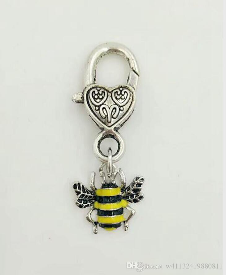 Smalto grandi api gialle / ape chiusura a moschettone portachiavi per chiavi auto portachiavi borsa souvenir di moda nuovo smalto gioielli donne-48