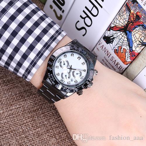 2018 유명한 디자인 패션 남자 빅 시계 골드 실버 스테인레스 스틸 고품질 남성 쿼츠 시계 남자 손목 시계 비즈니스 classil 시계