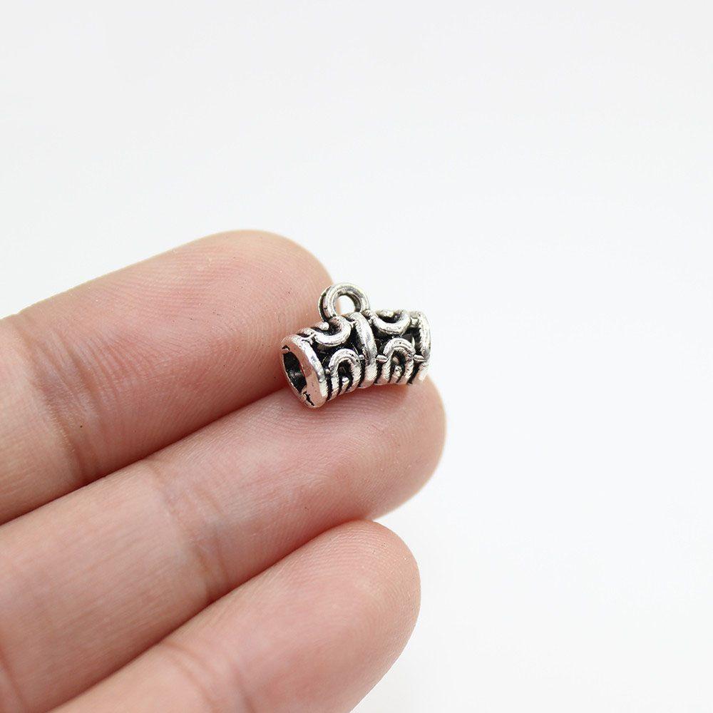 New fashion 50 pz 12x6mm antico nastro in lega di zinco collegamento pendenti di fascino accessori per fai da te collana bracciali monili che fanno