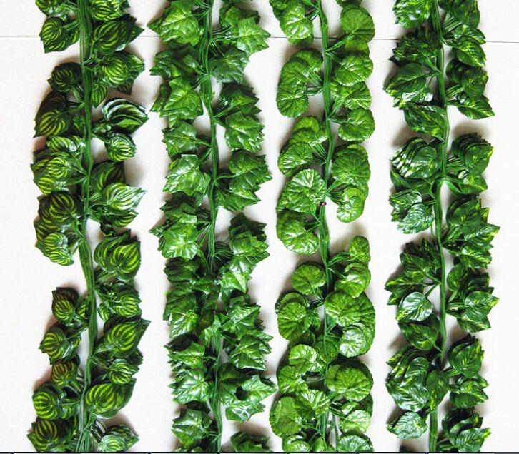 نباتات اصطناعية طويلة الحرير أوراق العنب اللبلاب فاين أوراق الشجر يترك في الهواء الطلق ome الزفاف الديكور الداخلي