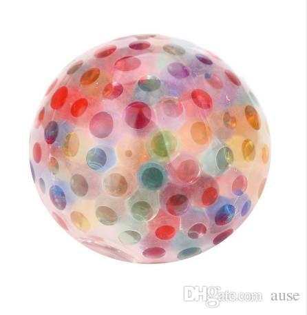 Súper Spongy Rainbow Ball Juguete Apretón Estrés Squishy Toy Stress Relief Ball Para Diversión Dropshipping 0419