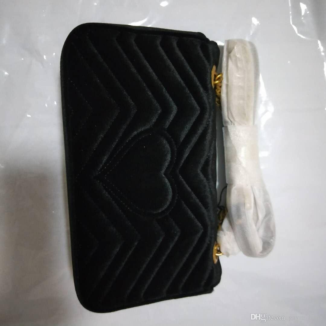Nuovo Messenger 26cm Qualità Alta Velvet Womens Donne Biglietti Borse Borse Borse Stile Brand Body Body Ladies Leather OVHV
