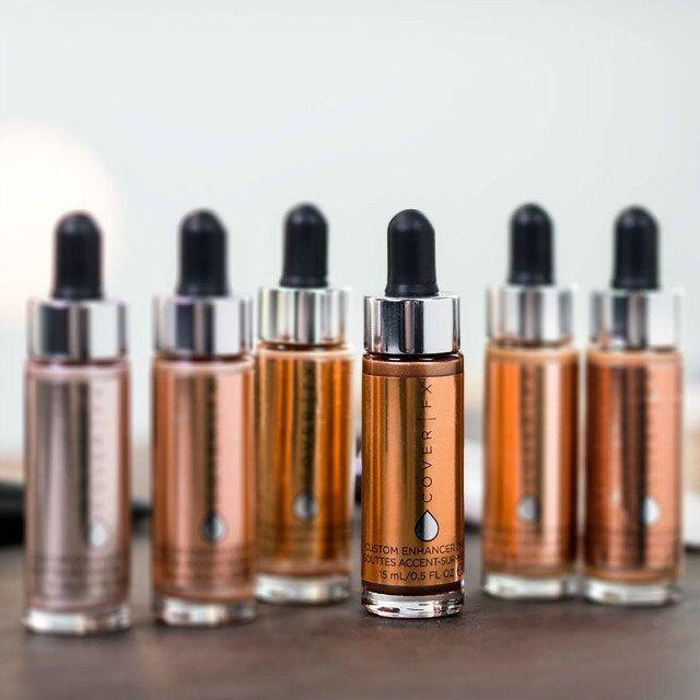 Top Qualidade COVER FX Custom Enhancer Drops 30 ML 6 Cores Maquiagem Natural Líquido Highlighter frete grátis