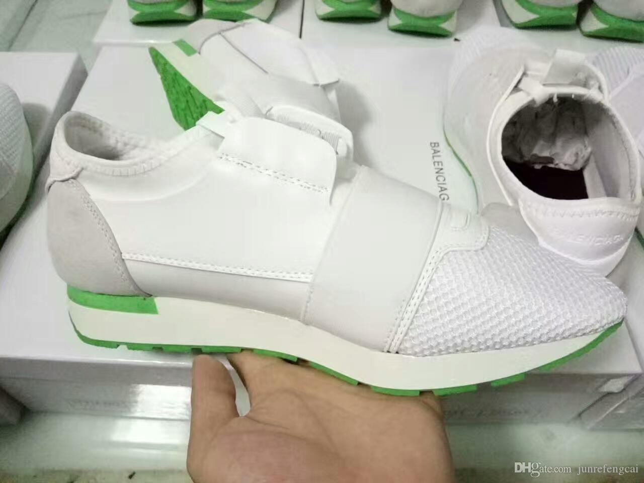 2018 Designer Marque de sport chaussures de course baskets formateurs casual chaussures Hommes Femmes Respirant mesh Chaussures taille 36-46