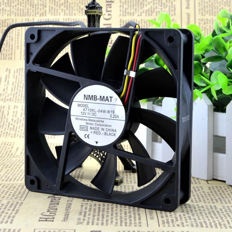 Pour NMB 12025 12V 0.22A 12CM Muet ventilateur de l'ordinateur de ventilateur du châssis 4710KL-04W-B19