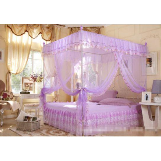 Mosquito Canopy For Twin Queen Cal King Size Net Post Bed Sweet 4 Corners Dream