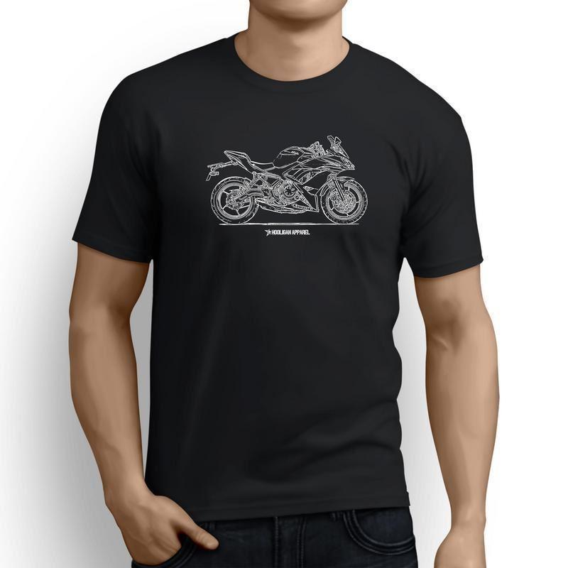 O Kawasaki Ninja 650 2017 inspirou o t-shirt dos homens da arte da motocicleta