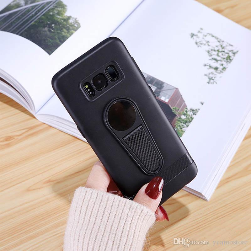 Etui ultra mince en TPU en silicone pour Samsung Galaxy S9 S8, plus le Galaxy Note 9 J4 2018 J6 2018 Etui magnétique antichoc en silicone