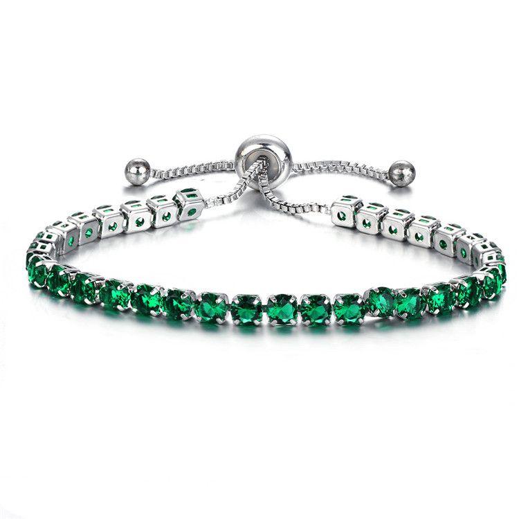 2018 Coloful Woman Bracelet One Row Crystal Rhinestone Bracelet Bangle Wristband Elastic Wedding Bridal Jewelry Girls Birthday Gift