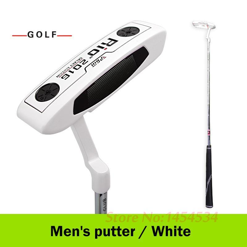 wholesale Genuine Golf Club Putter for Male and Women Beginners Exercise Zinc Alloy 35''/34'' Right Hand Steel White Black