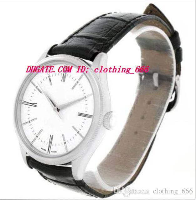Роскошные наручные часы 2018 18K белое золото белый циферблат автоматические мужские часы 50509 мужские часы высокое качество