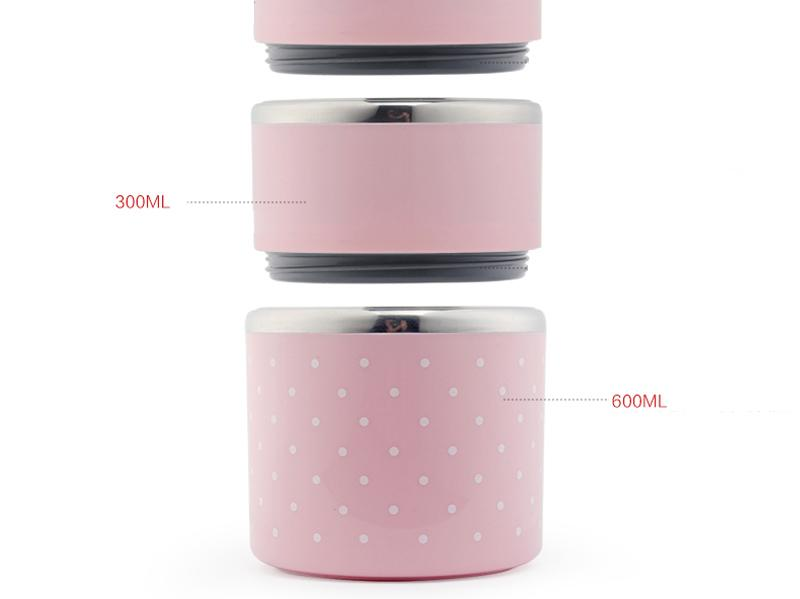 Portable Japanese Lunch Boxs Thermal Insulation Food Containers Stainless Steel Metal Plastic School Kids Bento Box Dinner Sets16