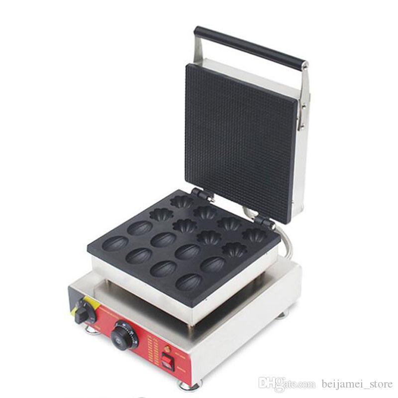 Beijamei casse-croûte équipement gaufrier forme commerciale fleur forme Nut prise électrique 110V gaufre machine à 220 V