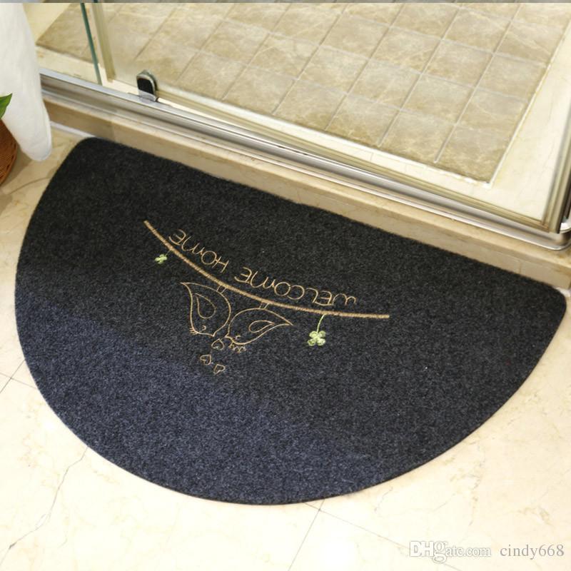 Semicircular Floor Cushion Fan Floor Mat Rugs For Kitchen Doormat Kitchen Bedroom Bathroom Carpet Non-Slip Decoration Mats Living Room Rug