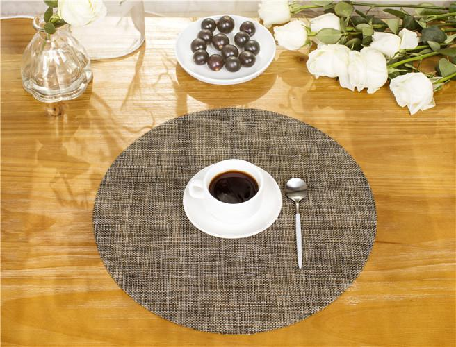 1 Pc Table Placemat Round Coasters 6 Colors Anti Scalding Woven Dining Table Mat