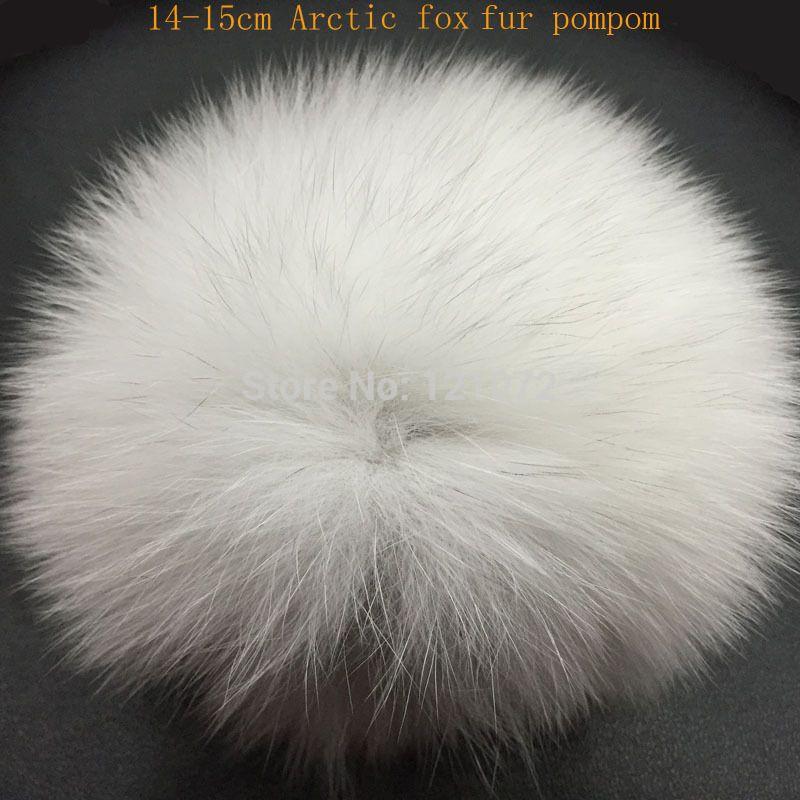 DIY كبيرة 14-15cm الفراء الكريات كرات الفراء أنيقة لبينيس في فصل الشتاء قبعة قبعة محبوك والمفاتيح والأوشحة تطلع اللاعبون النجوم بوم الحقيقي