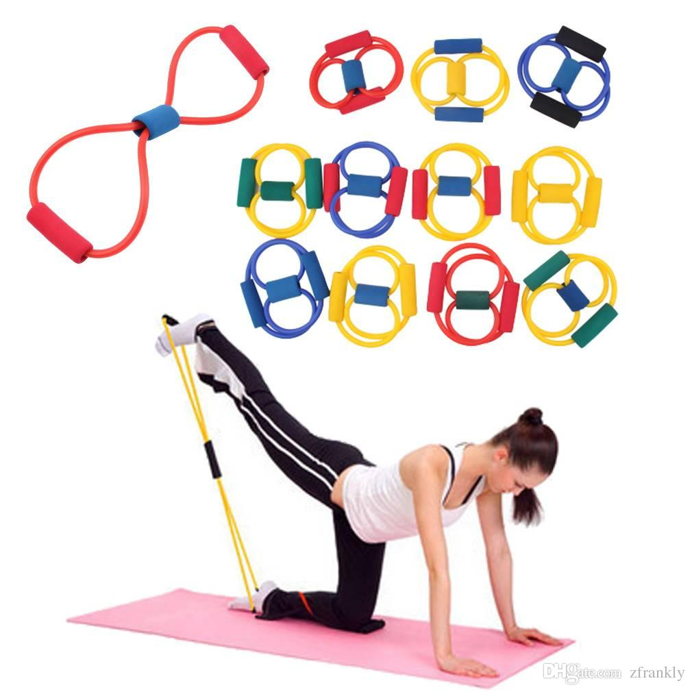 New Resistance Band Yoga Pilates Abs Exercise Stretch Fitness Tube