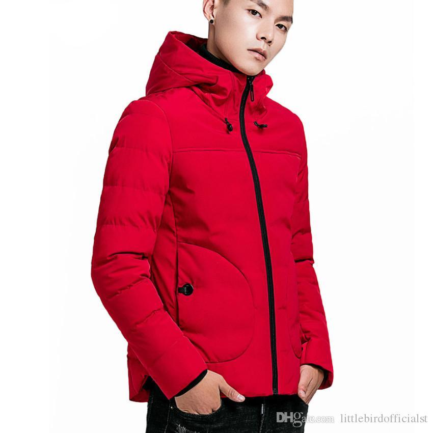 Hommes hiver Wram vestes à capuche hommes épais veste col montant coupe-vent manteau pour hommes Plus taille hiver Streetwear