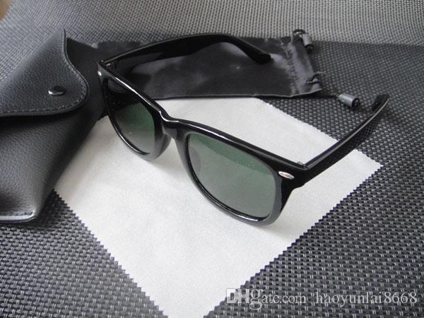2018 black frame green Glass lens 2140 men women max Sunglasses Classic UV400 54 mm Sun Glasses Eyeglasses Eyewear + box
