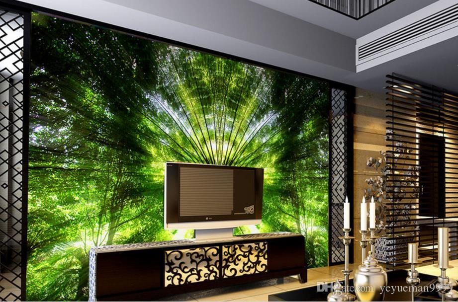 Custom 3d mural wallpaper paisaje TV telón de fondo papel de parede 3D Wallpaper para sala de estar Papeles de pared Decoración para el hogar