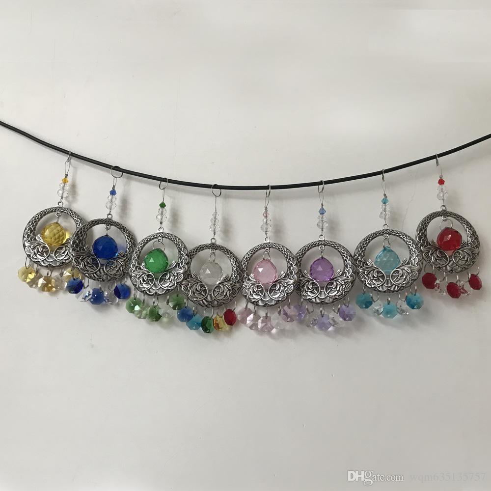 8PCS Chandelier Crystal Suncatcher 20mm Ball Hanging Crystals Lamp Prism Feng Shui Pendant DIY Decoration W087