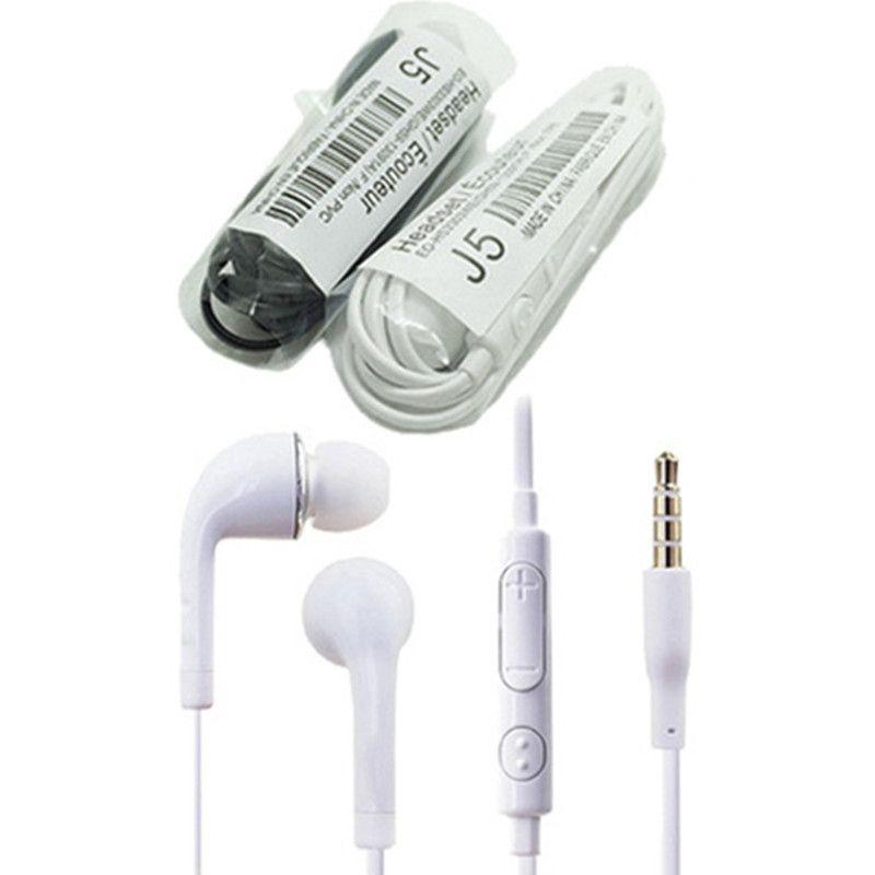 Mic ve Samsung Galaxy S7 S6 S5 S4 100pcs için Uzak Kulaklık ile J5 Kulaklık Kulak Kulaklık Stereo / yukarı