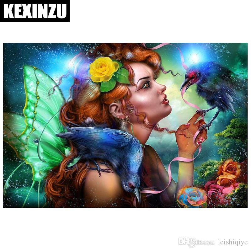 Kexinzu Diamante Bordado 5D DIY Pintura Diamante Menina Dos Desenhos Animados Pintura Diamante Ponto Cruz Strass Mosaico Para O Presente